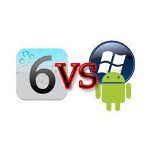 iOS 6, Android 4.0 ve WP 7.5 karşı karşıya