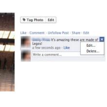 Facebook'a yorum düzenleme özelliği geliyor
