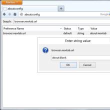 Firefox'un yeni sekme sayfasında açık bulundu