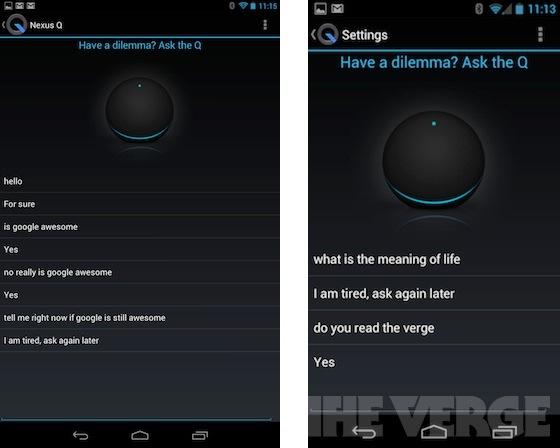 Nexus Q'da sürpriz yumurta