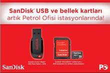 SanDisk ürünleri Petrol Ofisi'nde