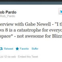 Blizzard da Windows 8'e çemkirdi