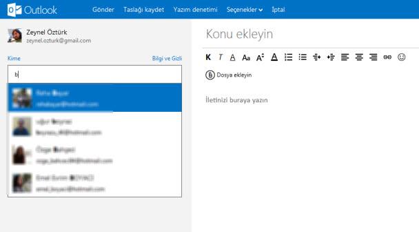E-posta klasörleri oluşturabilirsiniz