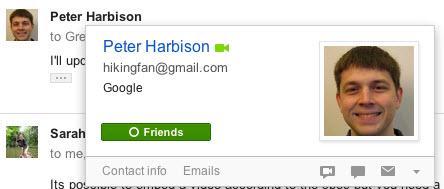"""Gmail'e yeni, Google+'lı """"profil kartları"""""""