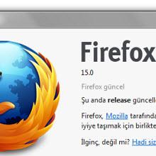 Firefox 15'deki yenilikler ve indirme bağlantısı