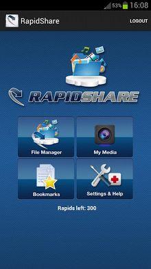 Rapidshare Android'de...