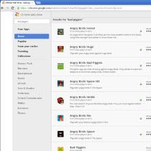 Sahte Angry Birds'ler Chrome'u sardı