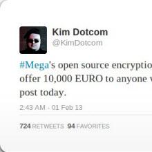 Mega'yı ele geçirene 10,000 avro ödül!