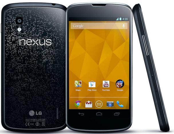 Nexus 4'ün teknik özellikleri ise şöyle