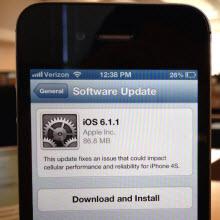 iOS 6.1.1 güncellemesi yayınlandı