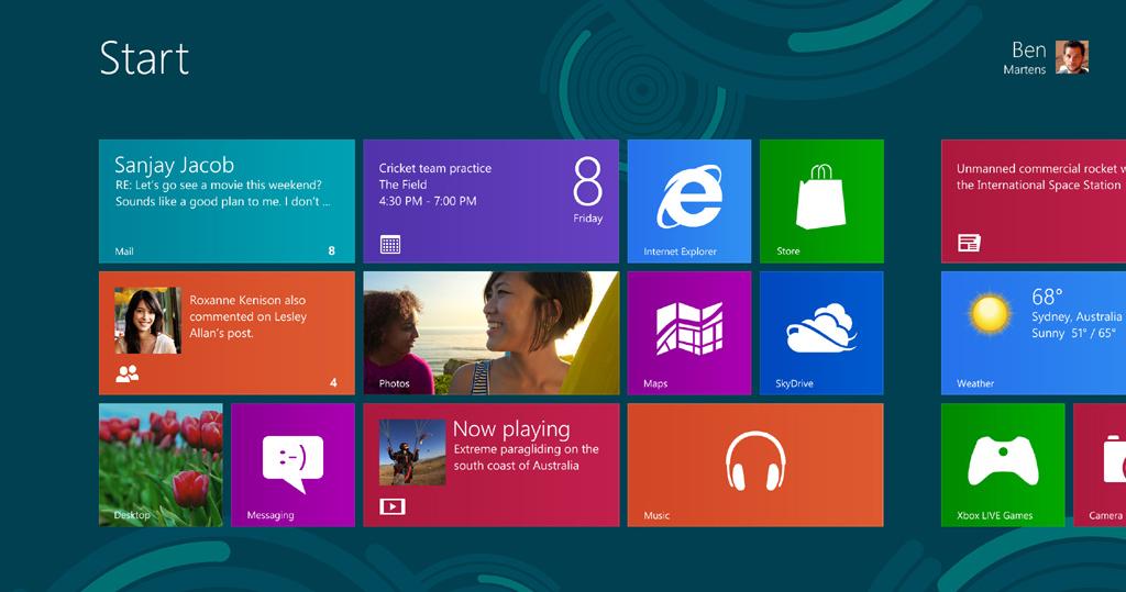 Windows 8: Yepyeni bir deneyim