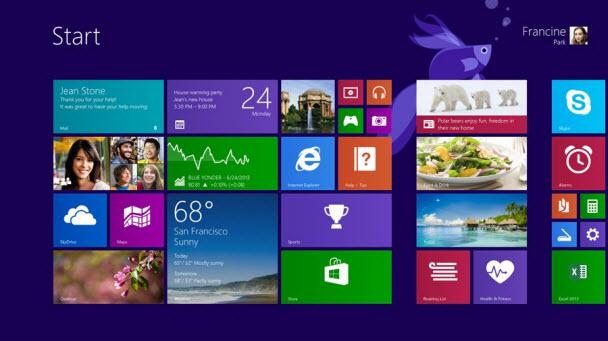 Windows 8.1'deki arayüz değişiklikleri