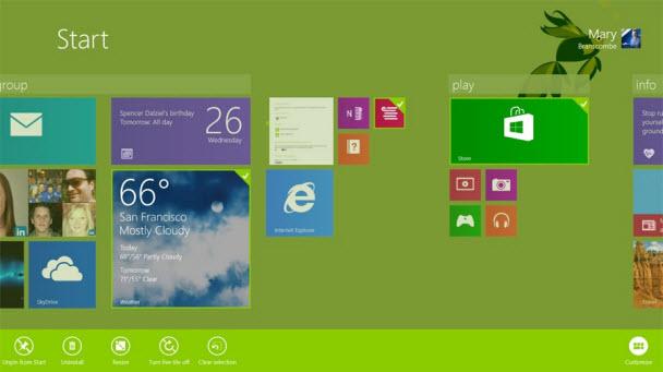 Kilit ekranı, yeni kutucuk boyutları ve fazlası
