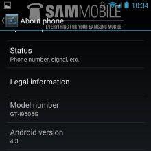 Galaxy S4 için Android 4.3 sızdı!