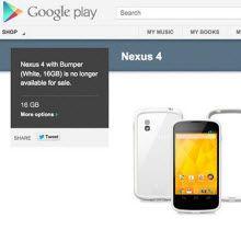 Beyaz Nexus 4 için yolun sonu!