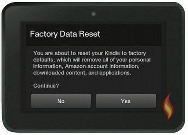 Unutulan şifreler için hard reset kullanmak