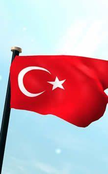 Türkiye Bayrak 3D Ücretsiz