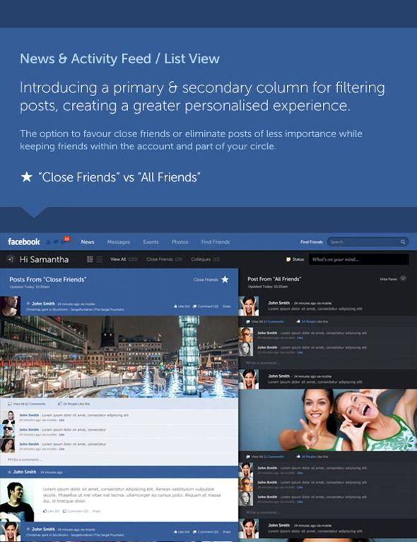 Kontrolü size veren Facebook konsepti - II