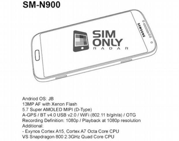 Galaxy Note 3, Exynos 5 Octa ile gelebilir!