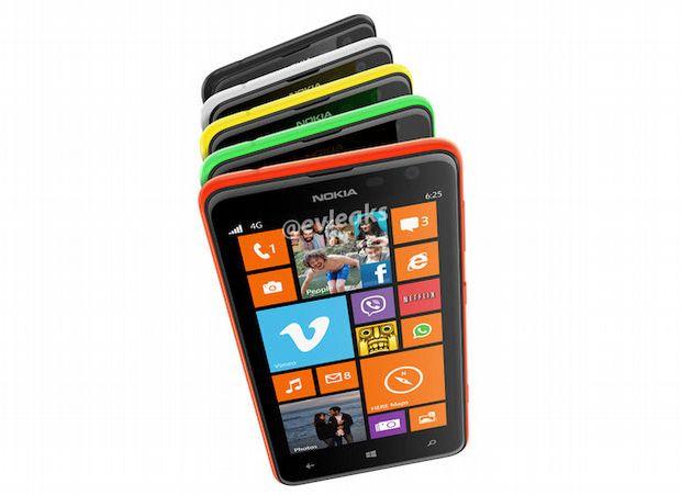 Lumia 625'ten iki kare daha!