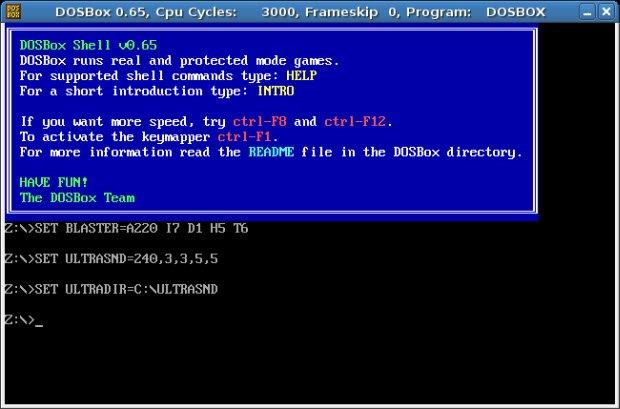 DOSBox veya sanal makine kullanın