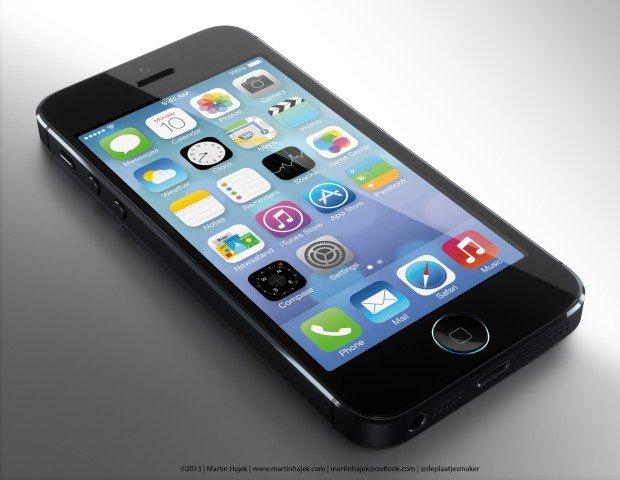 iPhone 5S için büyüleyici giriş düğmesi konsepti
