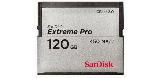 SanDisk Extreme Pro CFast 2.0, bellek, kart, 120gb