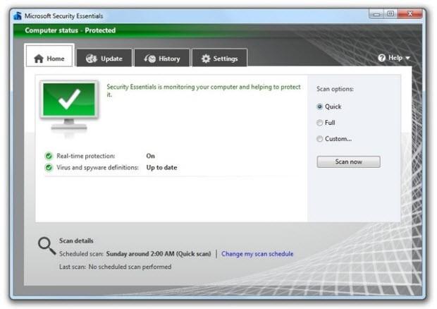 Aslında ismi de aynı şeyi söylüyor Security Essentials, microsoft, antivirüs, yetersiz, virüs, koruma