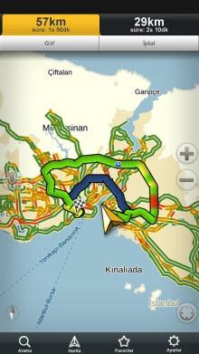 Trafik yoğunluğuna göre en uygun rotalar