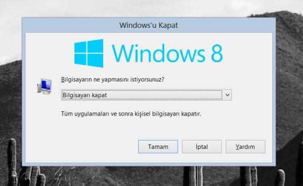 Bilgisayarınızı kapatın, yeniden başlatın...