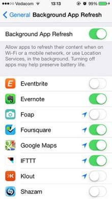 iOS 7'li cihazınızın pil ömrünü uzatın!
