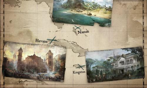 Yine kocaman bir harita ve gezilecek bolca mekan