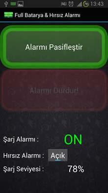 Full Batarya & Hırsız Alarmı