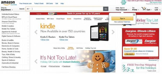 Ve şu anki Amazon...