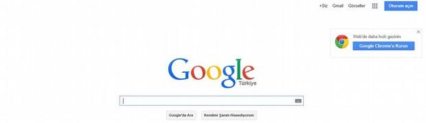 Ve şu anki Google...