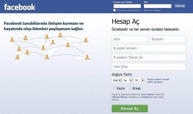 Ve şu anki Facebook...