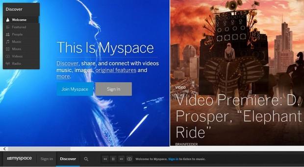 Ve şu anki MySpace...