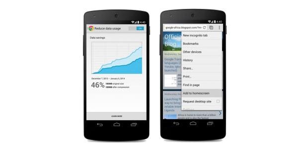 Mobil Chrome için ipuçları
