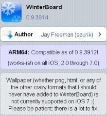 WinterBoard, iOS 7 görünümü kazandı!