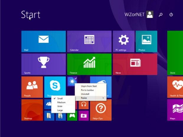 Windows 8.1 Update 1'den iki ekran görüntüsü daha