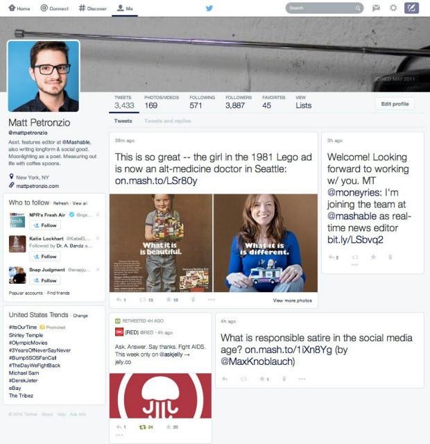Twitter'dan Facebook benzeri yeni tasarım!