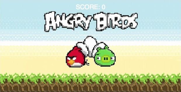 8-Bit Angry Birds zamanı!