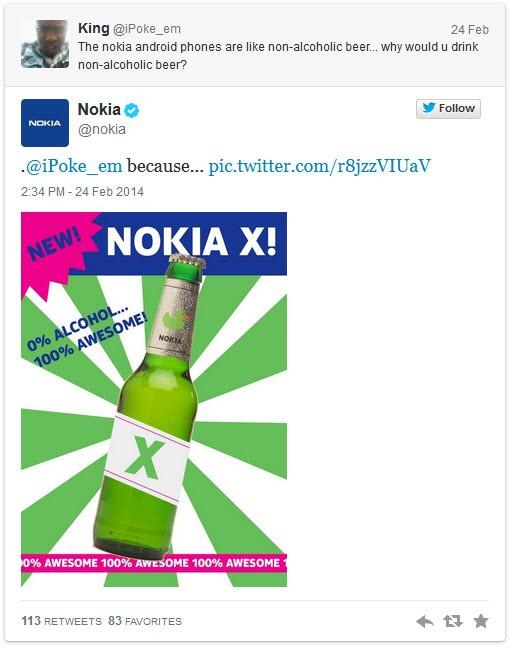 Nokia, Twitter'da Samsung'la dalga geçti!