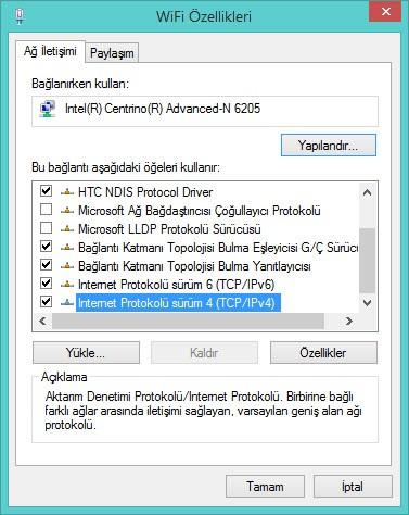Windows 7 ve 8'de DNS ayarını değiştirmek