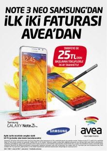 Avea'dan Galaxy Note 3 Neo alanlara fırsat!