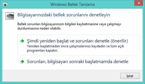 Windows Bellek Tanılama ve fazlası