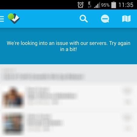 Foursquare uygulaması çöktü!