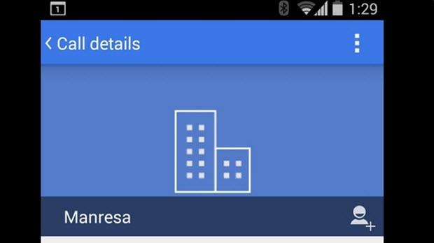 Android numara çeviricisi maviye boyanabilir!