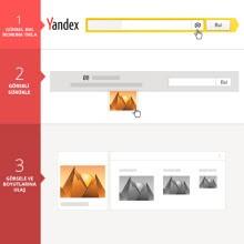Yandex'ten görsel ile görsel arama işlevi!